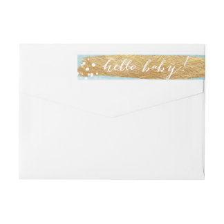 Painterly Faux Gold Pool | Baby Wraparound Wrap Around Label