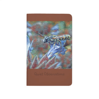 Painterly Leafcutter Bee Pocket Journal