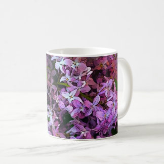 Painterly lilacs coffee mug