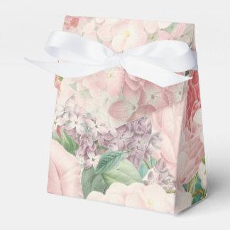 Painterly Retro Roses Lilacs Flower Spring Pattern Favor Box