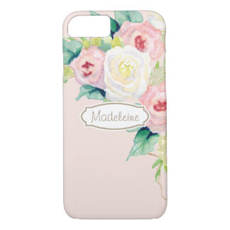 Painterly Simple Modern Watercolor Floral Roses iPhone 7 Case