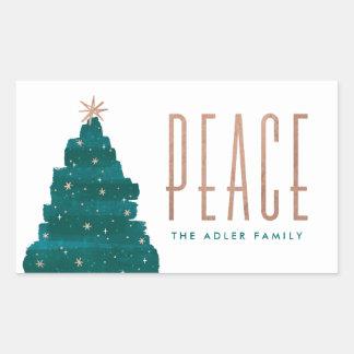 Painterly Tree Holiday Sticker