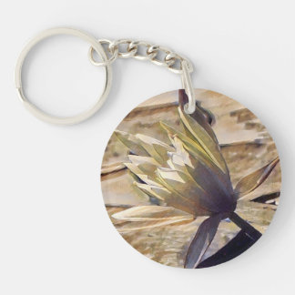 Painterly Waterlily Keychain