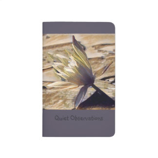 Painterly Waterlily Pocket Journal