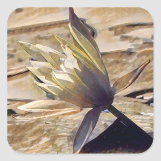Painterly Waterlily Stickers