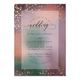 painterly wedding invitation (gold)