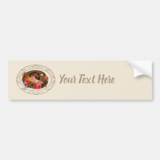 Painter's Palette And Roses Bumper Sticker
