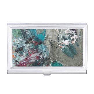 Painter's palette business card holder