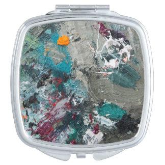 Painter's palette mirror for makeup