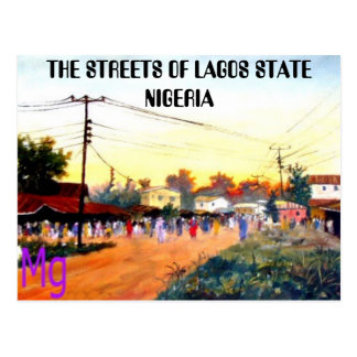 PAINTING 10 copy, THE STREETS OF LAGOS STATE NI... Postcard