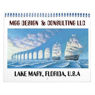PAINTING 9 copy, MGG DESIGN  & CONSULTING LLC  ... Wall Calendars
