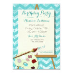 "Painting Art Birthday Party 5"" X 7"" Invitation Card"