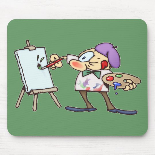 Painting Artist Mouse Pad