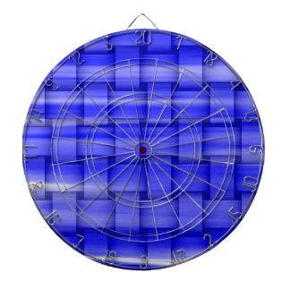 Painting blue wicker art graphic design dart boards