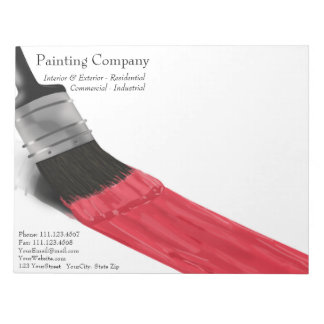 Painting Brush Red Color - Notepad