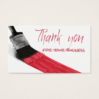 Painting Brush Red Color - Thank you Card