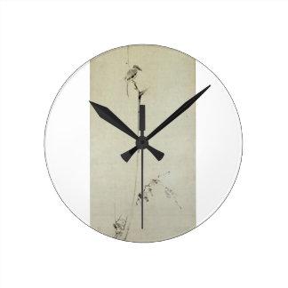 Painting by Miyamoto Musashi, c. 1600's Round Clock