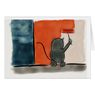 Painting Cat Card