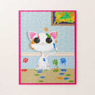 Painting Cat Puzzle