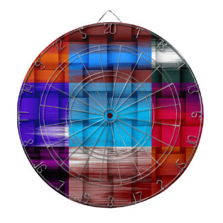 Painting colorful wicker art graphic design 2 dartboards