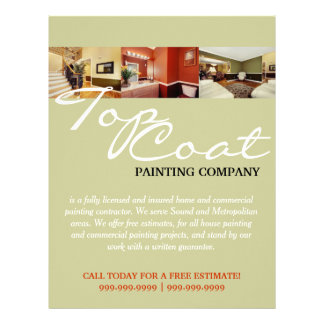 Painting Company Construction Business Flyer Personalized Letterhead