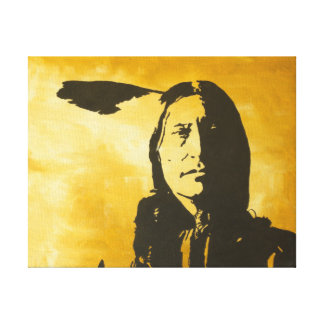 "Painting entited ""Stand Tall"" Arapaho Indian/ Stre Canvas Prints"