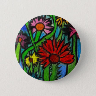 Painting Flowers Through Autistic Eyes 2 Inch Round Button