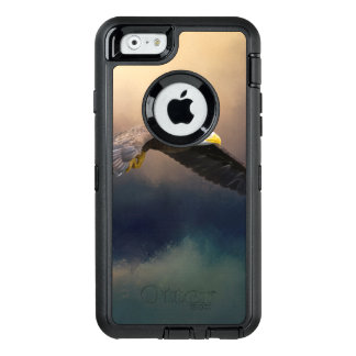 Painting flying american bald eagle OtterBox defender iPhone case