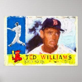 Painting of 1960 Baseball Card Poster