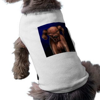 Painting of a Big Brown Dog Looking Directly at Yo Pet T Shirt