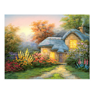 Painting Of A Private Cottage Postcard