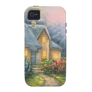 Painting Of A Rustic Fantasy Cottage iPhone 4/4S Covers