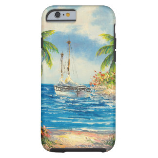 Painting Of A Sailboat In Hawaii Tough iPhone 6 Case