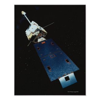Painting of a Weather Satellite Poster