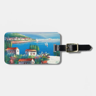 Painting Of An Italian Village Luggage Tag