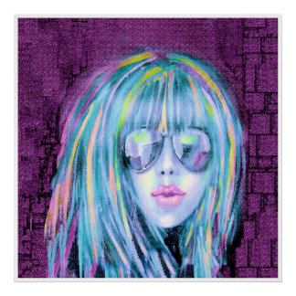 Painting of Contemporary Young Woman 2 Poster