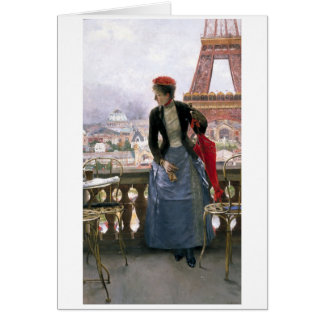Painting of Eiffel Tower Greeting Card