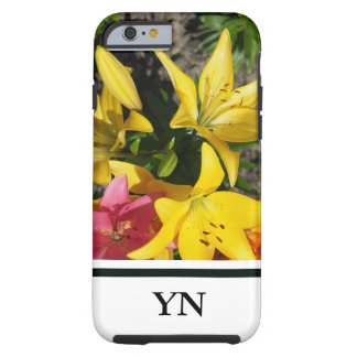 Painting of flowers tough iPhone 6 case