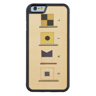Painting of Four Flags with Sail Written Beneath Carved Maple iPhone 6 Bumper Case