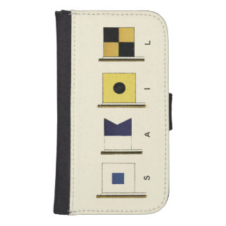 Painting of Four Flags with Sail Written Beneath Galaxy S4 Wallet