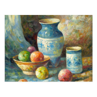 Painting Of Fruit And Pottery Vessels Postcard