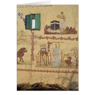 Painting of Hajj or Umra on Village Wall Card