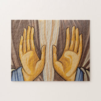 Painting Of Hands In A Church Jigsaw Puzzle