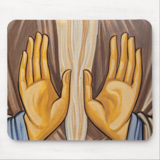 Painting Of Hands In A Church Mouse Pad