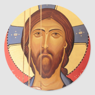 Painting Of Jesus Classic Round Sticker