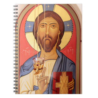 Painting Of Jesus Spiral Notebook