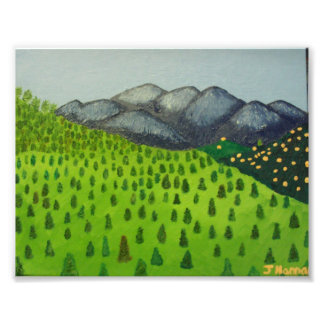 Painting of Mount Baldy by Julia Hanna Art Photo