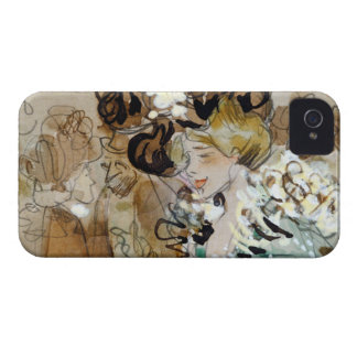 """Painting of Ramon Houses """"Celebrations in Toulon """" iPhone 4 Cover"""