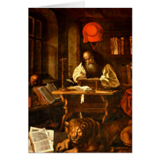 Painting of St Jerome Card