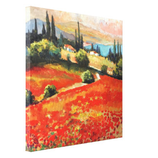 "painting, oil painting ""Poppy field"" Canvas Print"